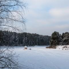 Река Медведица– отражение неба в сугробах (Тетьково, Тверская обл.)
