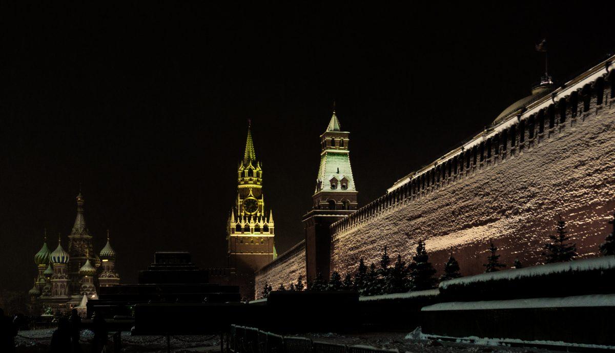Кремль: световые эффекты