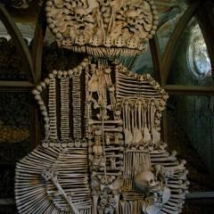 Герб Шварценбергов в Костехранилище (Кладбищенский костёл Всех Святых)